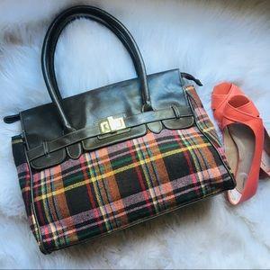 Merona Bags - 🍁 MERONA Plaid Satchel Handbag